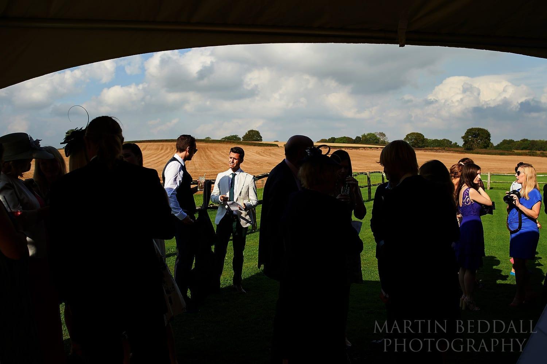 reception at Bartholomew Barn wedding