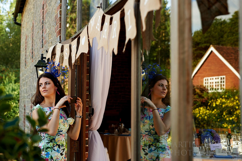 Wedding guest at Bartholomew Barn wedding