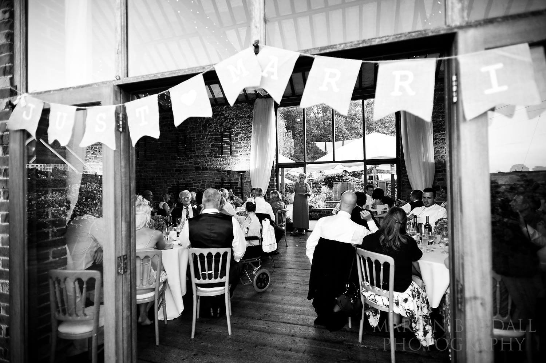 Bartholomew Barn wedding speeches