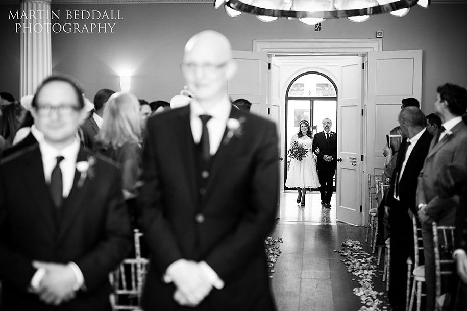 Wedding ceremony at the Royal Society of Arts