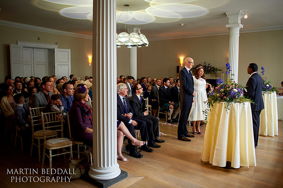 Wedding ceremony in the Benjamin Franklin room