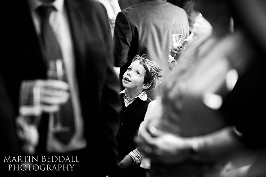 Reportage wedding photography of a wedding reception