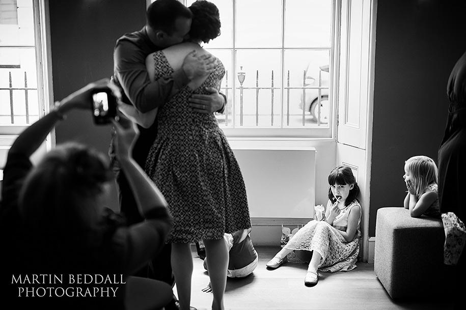 Documentary wedding photography of a wedding reception