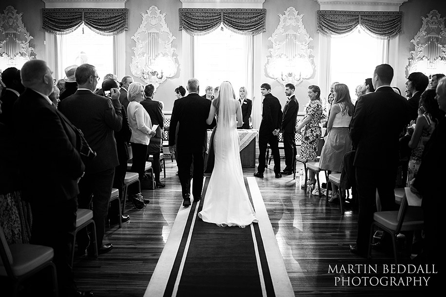 Wedding ceremony at Stratford-upon-Avon town hall