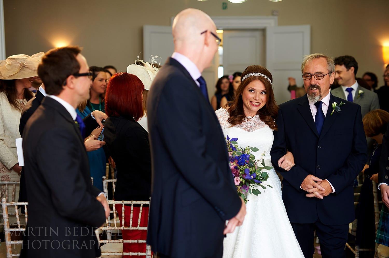 Start of the wedding ceremony at Royal Society of Arts