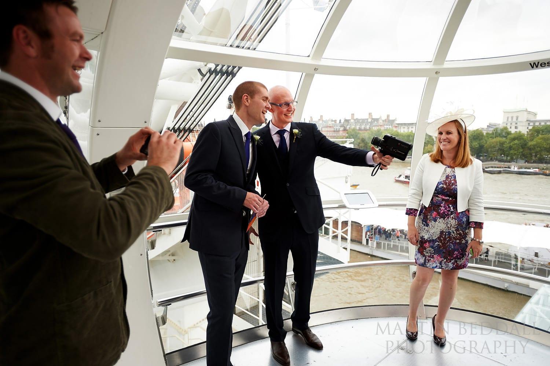 Selfie at London Eye wedding