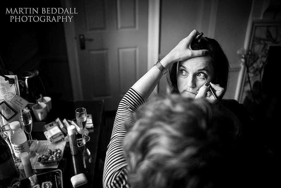 Bride gets ready at Gorse Hill