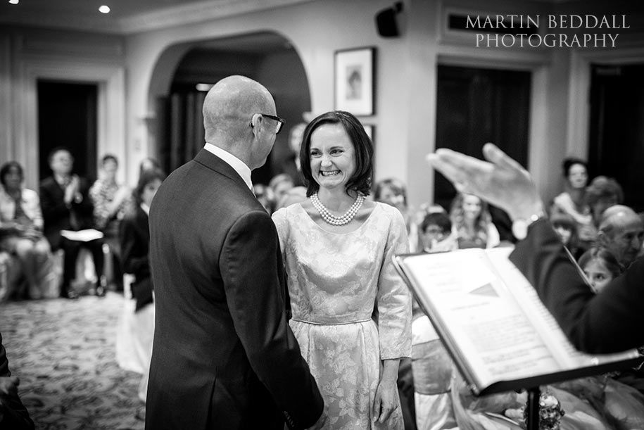 Wedding ceremony at Gorse Hill hotel in Surrey