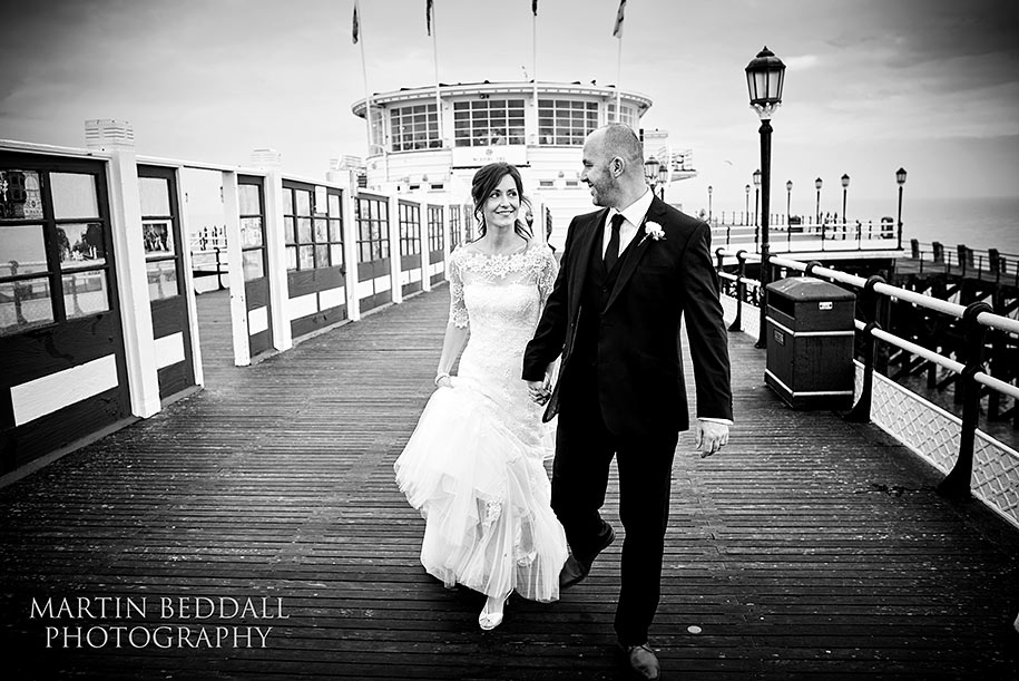 Worthing Pier wedding photography