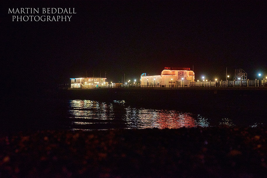 Worthing Pier at night