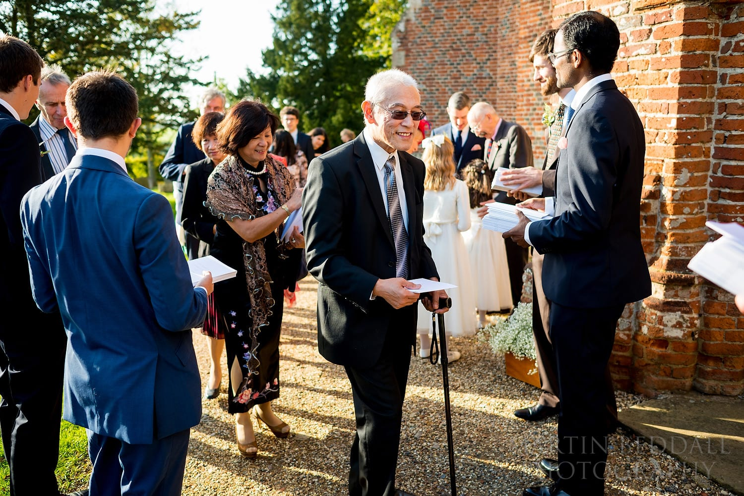 Guests arrive at Layer Marney Tower church