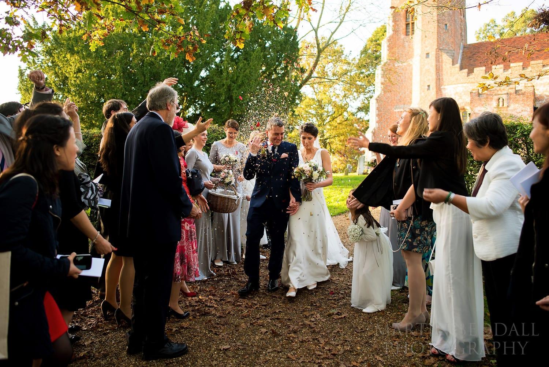 Layer Marney Tower wedding confetti