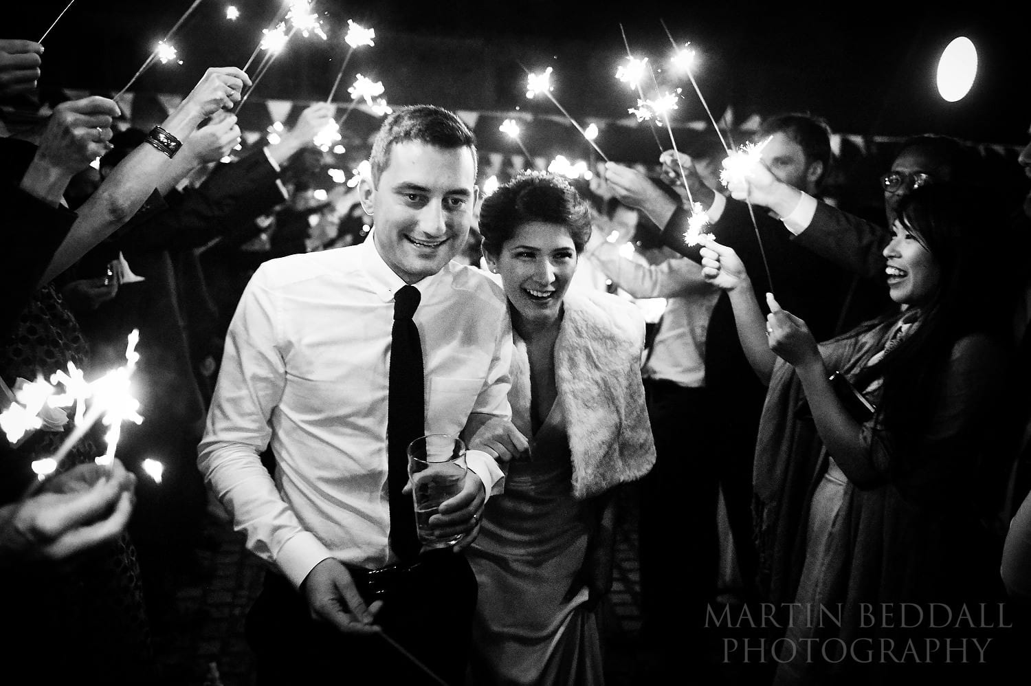 Layer Marney Tower wedding sparklers