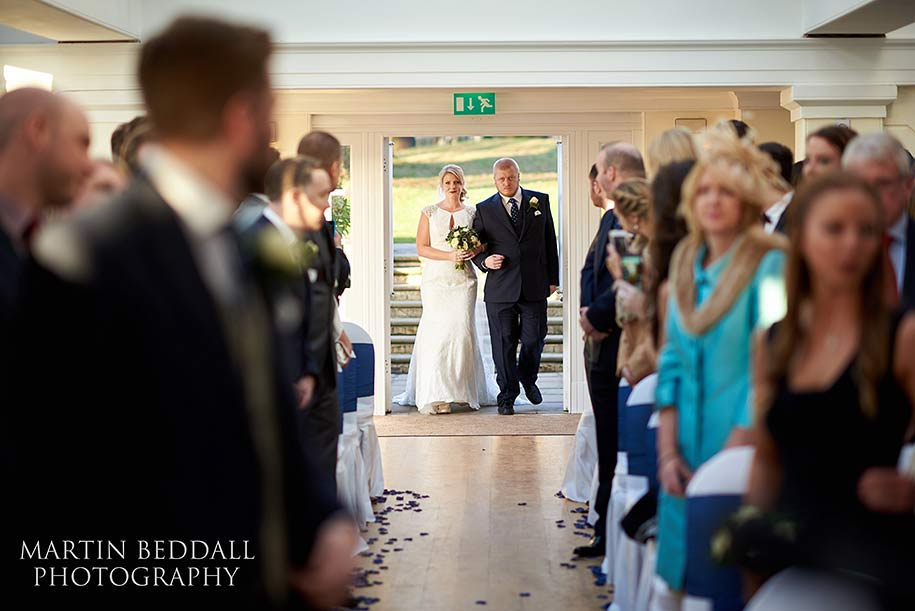 Pembroke Lodge wedding ceremony in the Belvedere