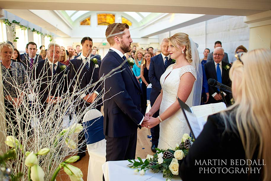 Wedding ceremony at Pembroke Lodge