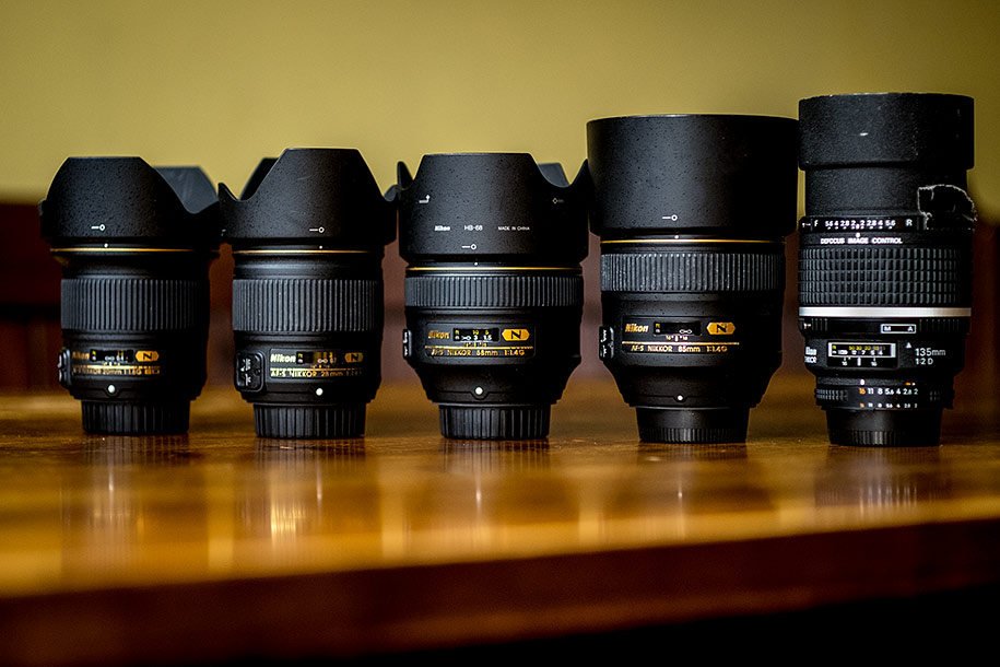 Lenses Used By Nikon Wedding Photographer Martin Beddall