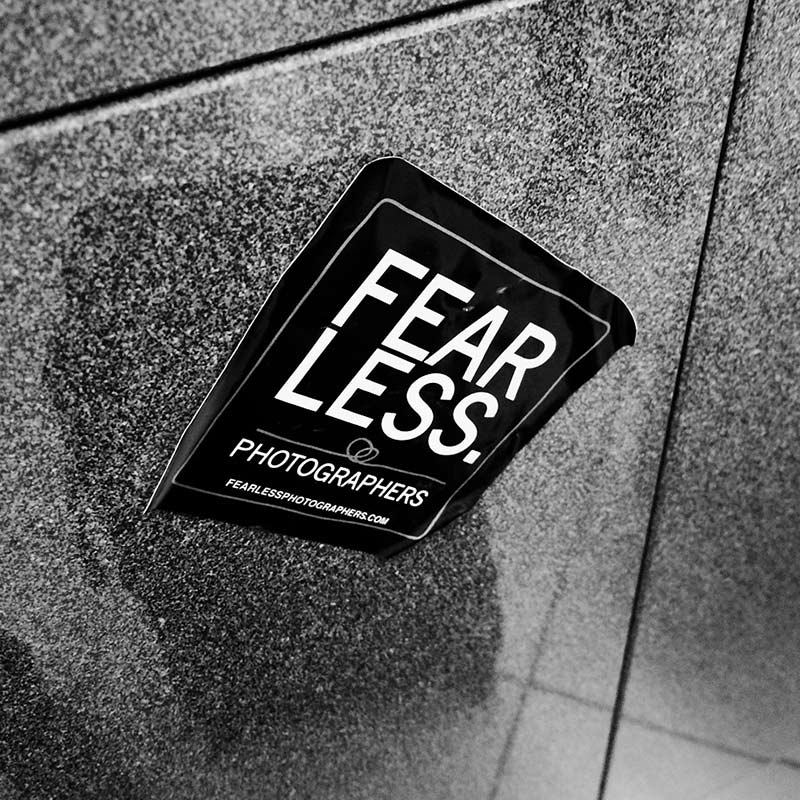 Fearless Photographers Conference sticker