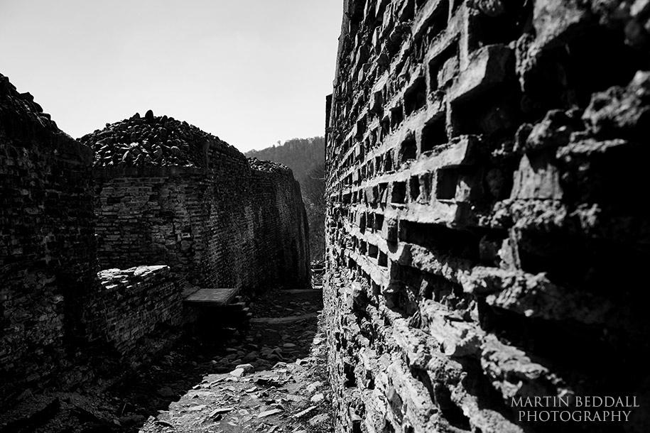 Ruins of Poenari castle in Romania