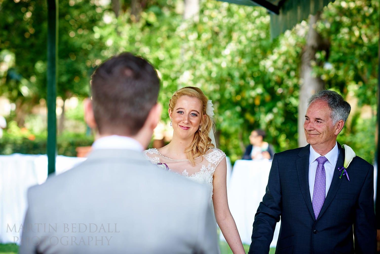 Start of Bellapais Abbey wedding ceremony