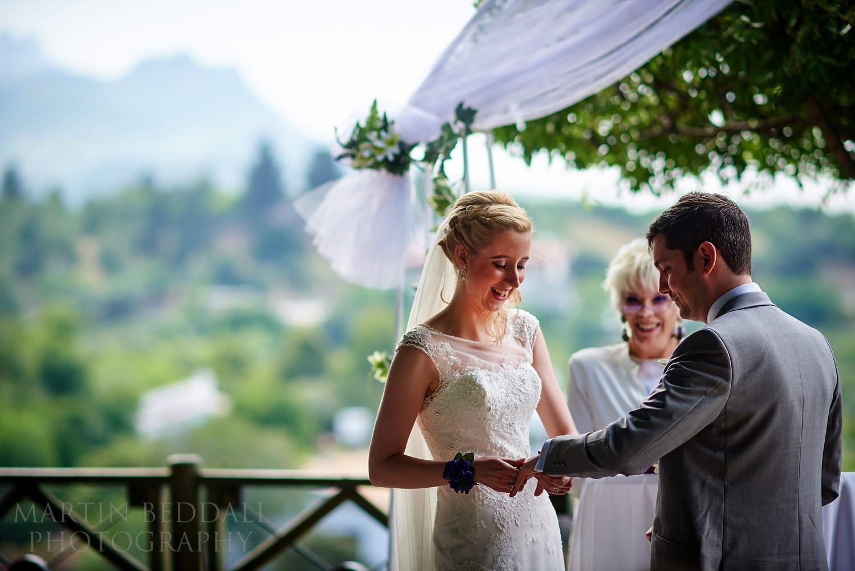 Bellapais Abbey wedding ceremony in North Cyprus