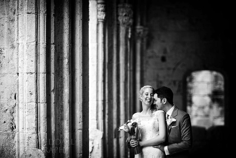 Couple portrait at Bellapais Abbey wedding