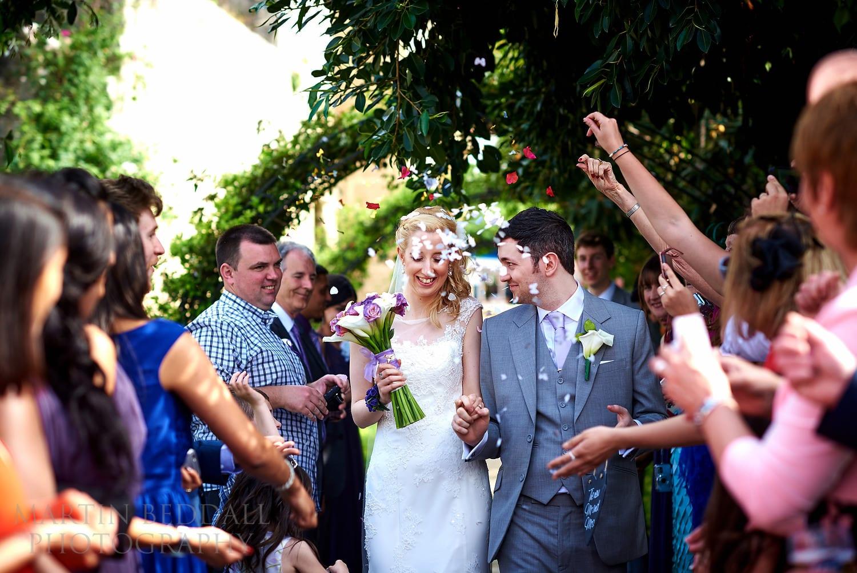 Confetti at Bellapais Abbey wedding