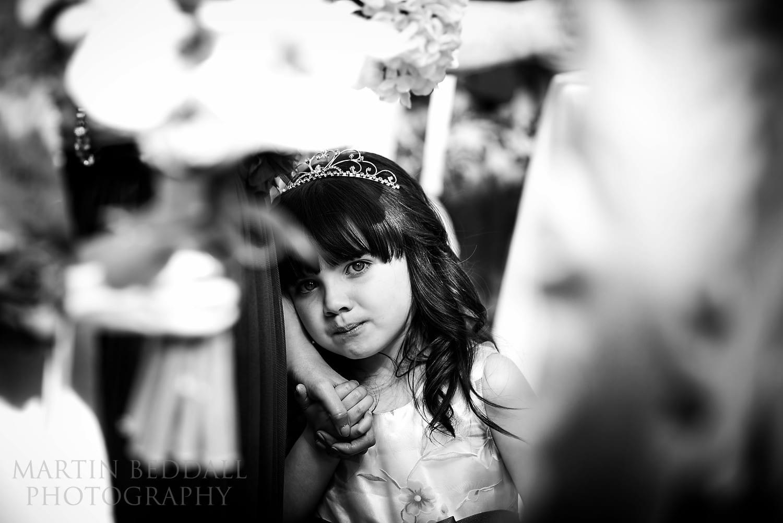 Flower girl at North Cyprus wedding