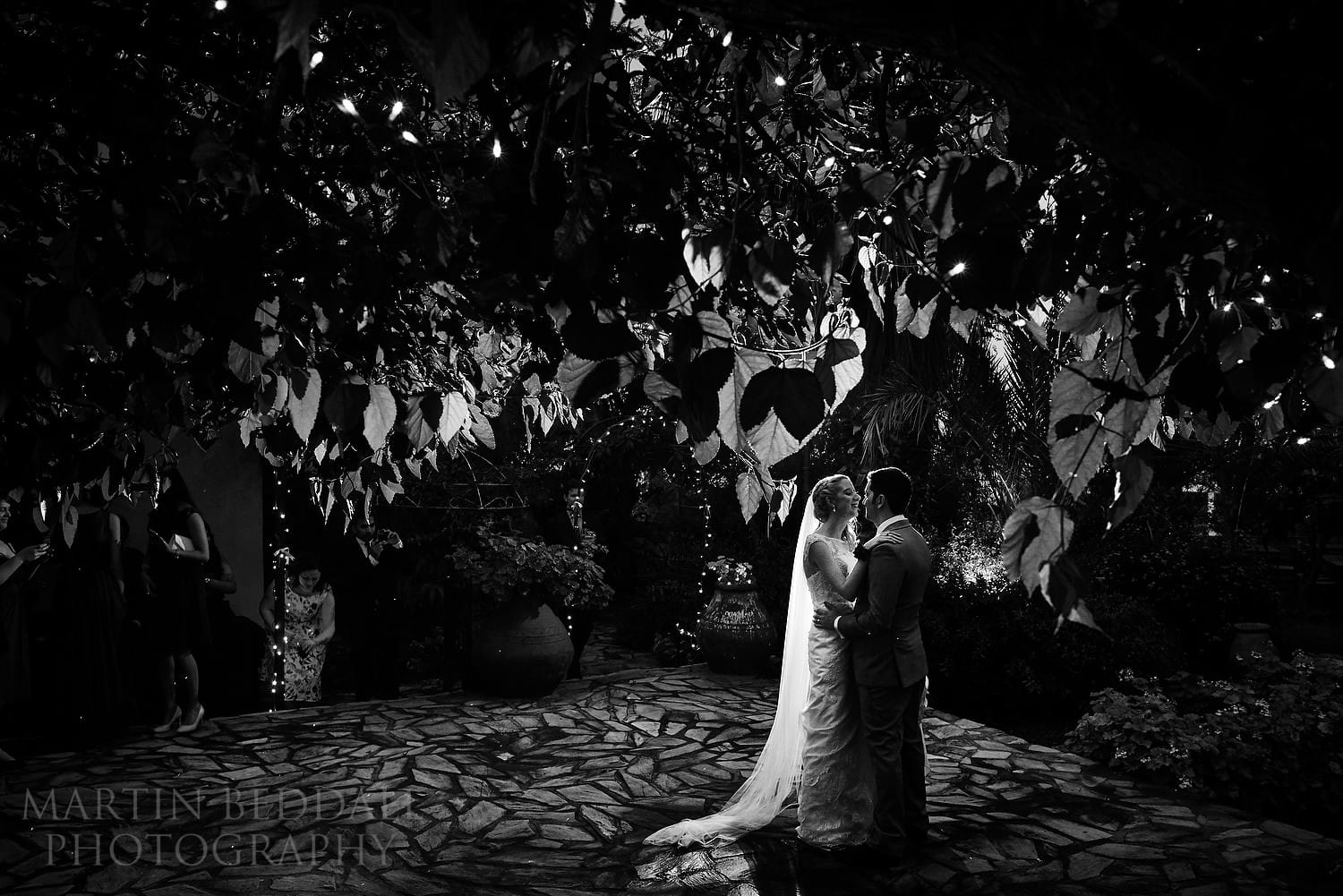 First dance in the open air at Bellapais Abbey wedding
