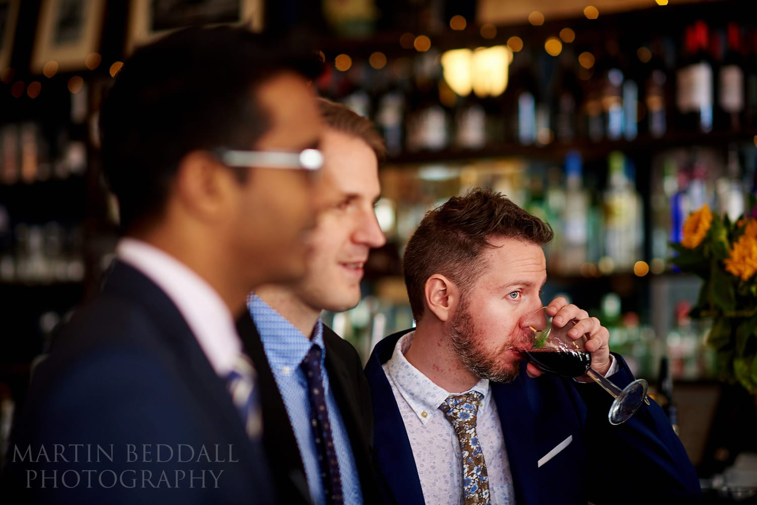 Wedding drinks at The Green pub in Clerkenwell