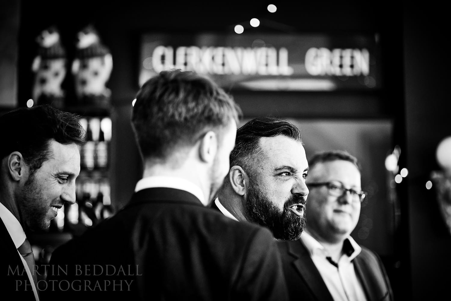 Wedding drinks reception at The Green pub in Clerkenwell