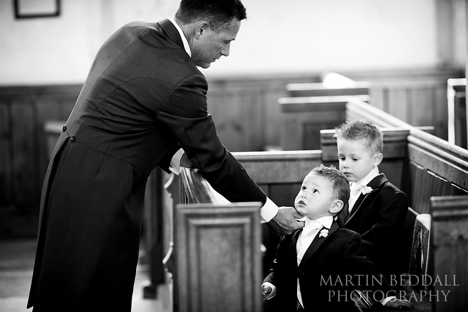 Groom and his young sons