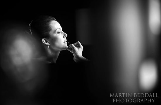 Bride getting ready at Nutfield Priory