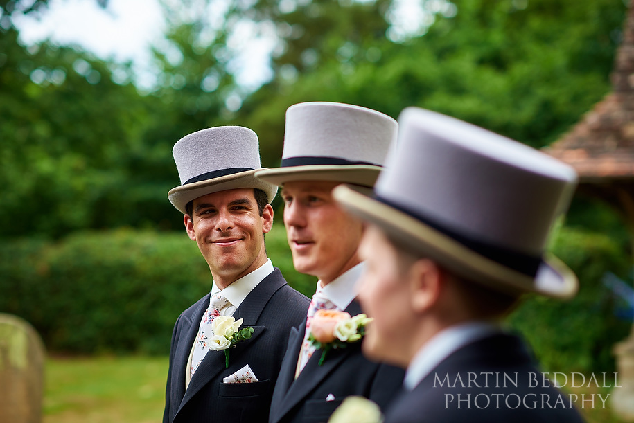 Top hat wedding