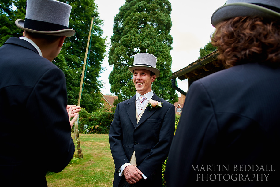 Top hat wedding in England