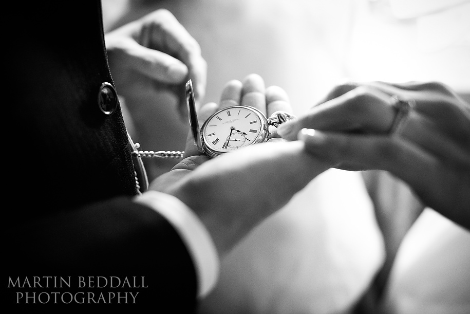 Bride's gift to the groom a pocket watch