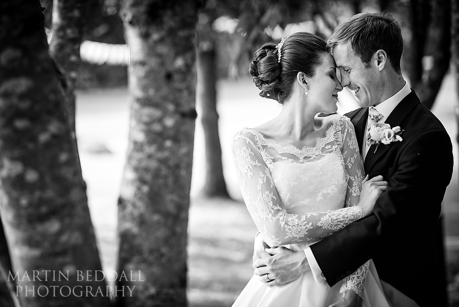 Bride and groom portraits at Nutfield Priory wedding