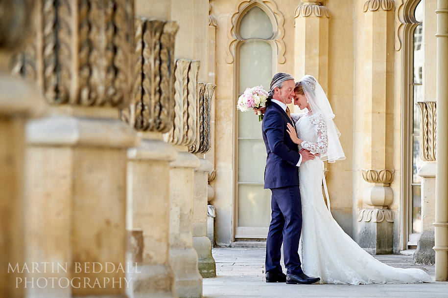 Royal Pavilion wedding bride and groom portrait