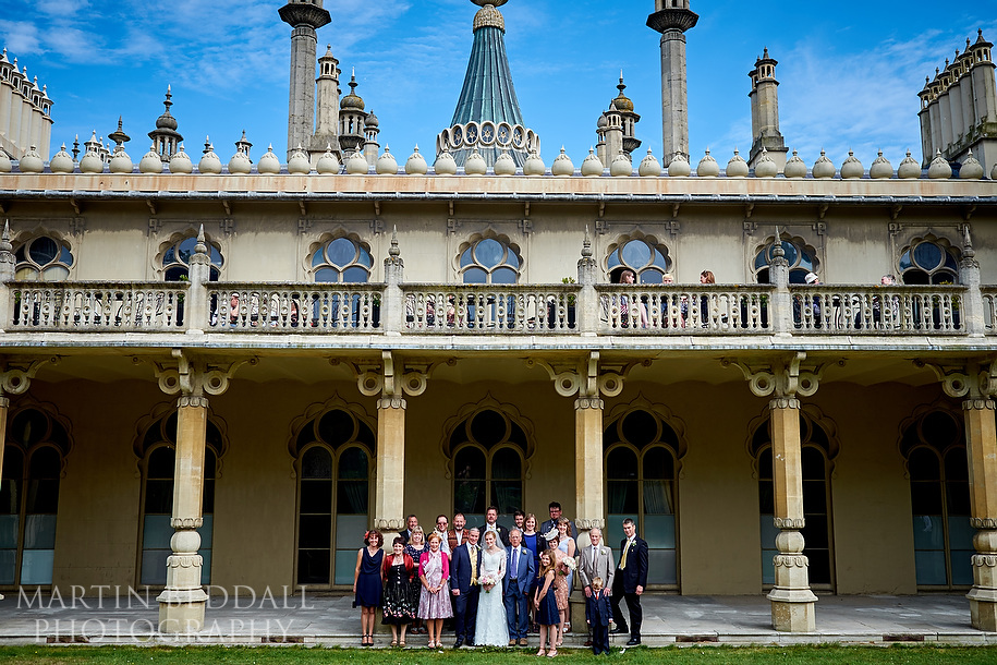Family group shot at Royal Pavilion wedding