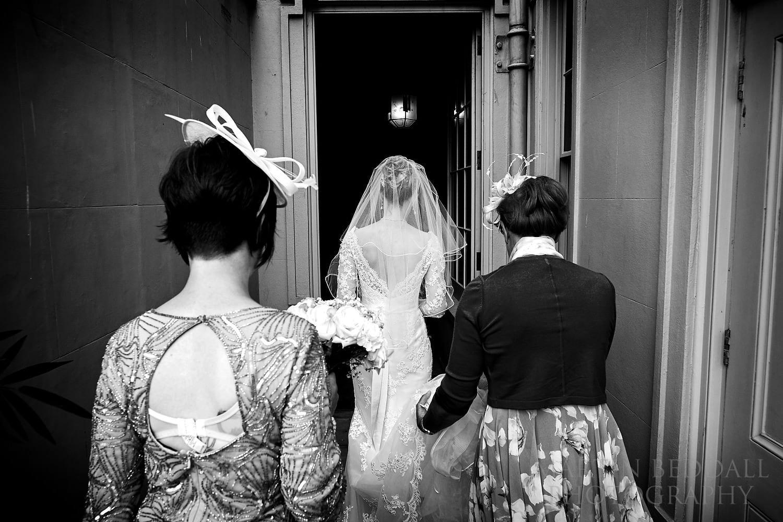 Bride enters the Royal Pavilion in Brighton
