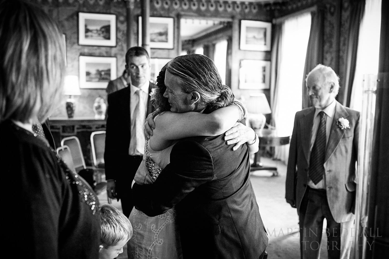 Hugs at Royal Pavilion wedding