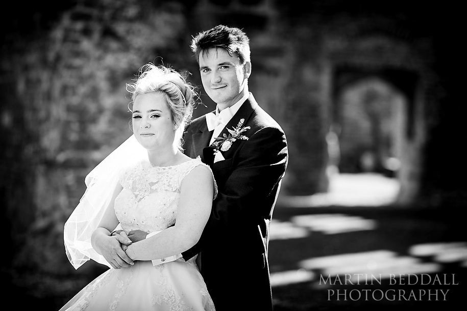 Bride and groom portrait at Cowdray Park