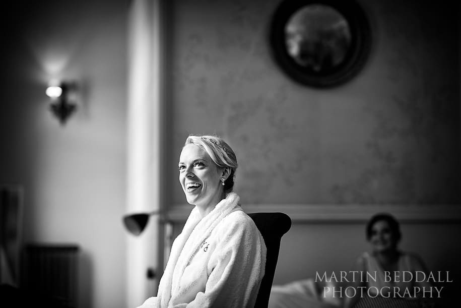 Bride gets ready at the York and Albany in London
