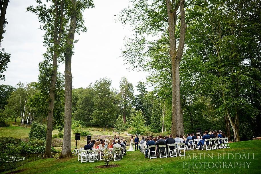 Hyde Estate West Sussex wedding ceremony