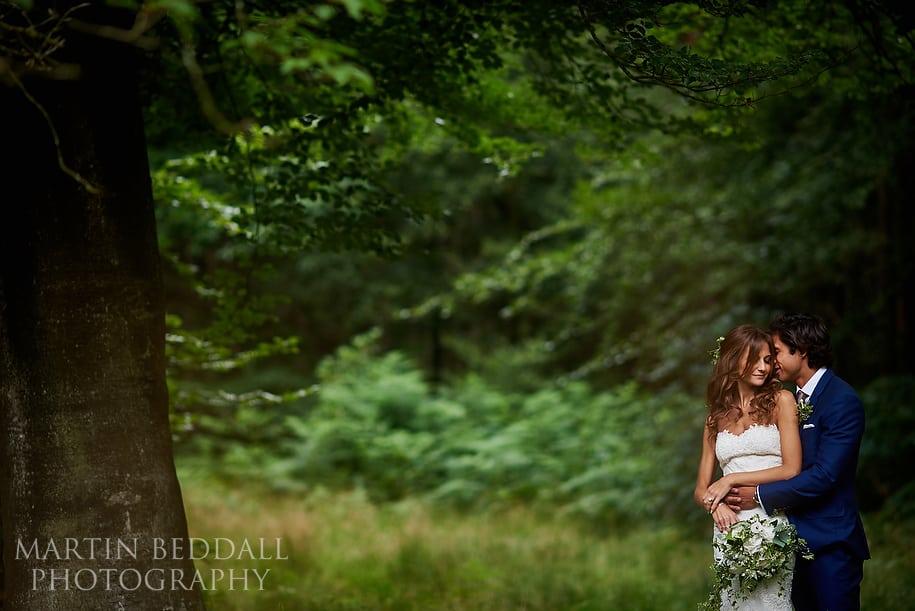 Hyde Estate wedding bride and groom portrait