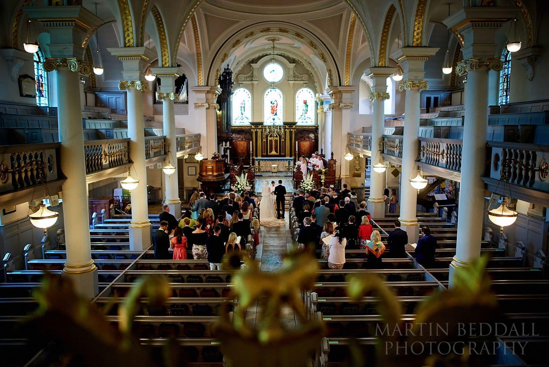 Wedding ceremony at Hampstead Parish church