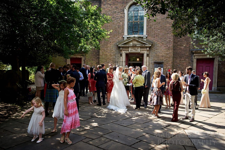 Hampstead Parish church wedding