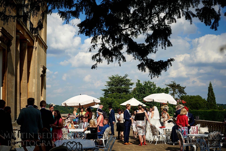 Luton Hoo wedding reception on the terrace