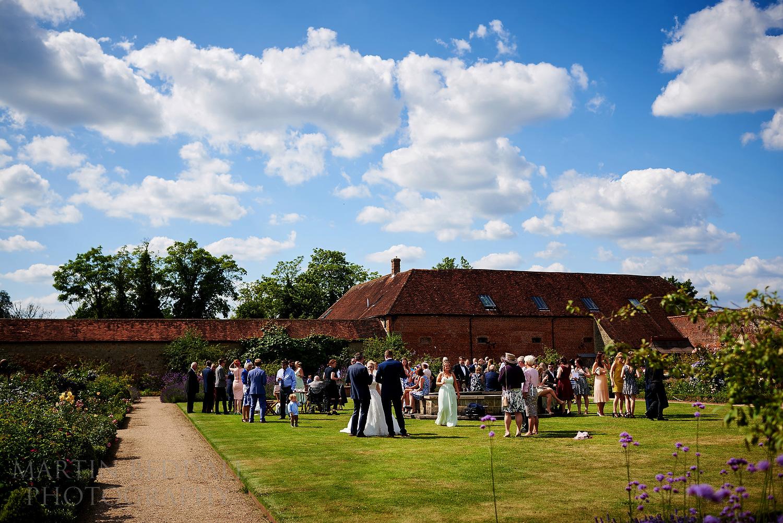 Walled garden Cowdray wedding reception
