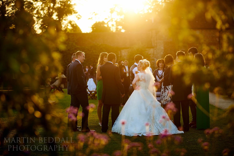 Summer evening wedding reception at Walled garden Cowdray