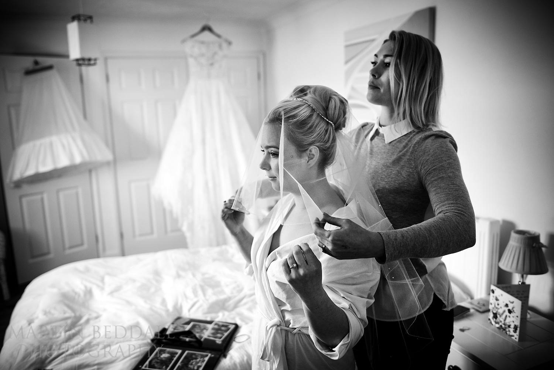 Wedding veil on
